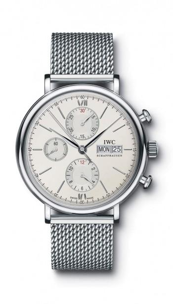 IWC- Portofino Chronograph 42 Mm Mesh Bracelet 