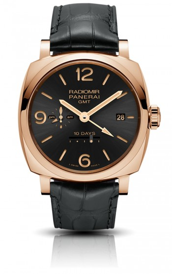 PANERAI - RADIOMIR 1940 10 DAYS GMT AUTOMATIC ROSE GOLD PAM625  ‌