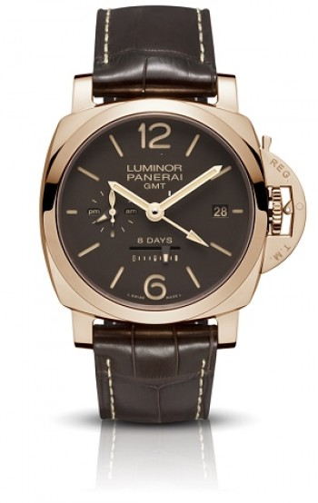 PANERAI - LUMONOR 1950 8 DAYS GMT ROSE GOLD